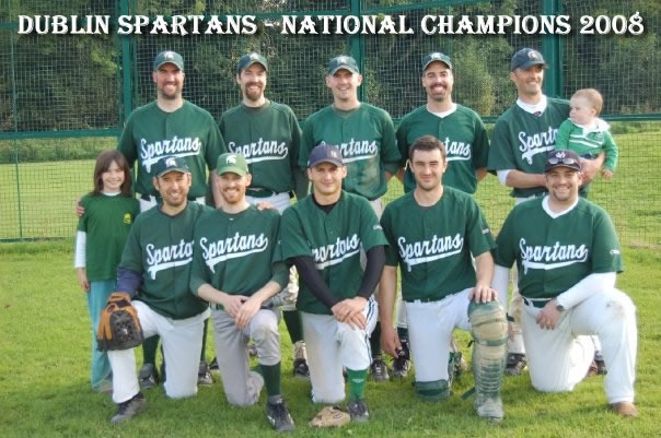Dublin Spartans Baseball Ireland A League Champions 2008