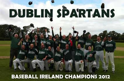 Dublin Spartans Baseball Ireland A League Champions 2012