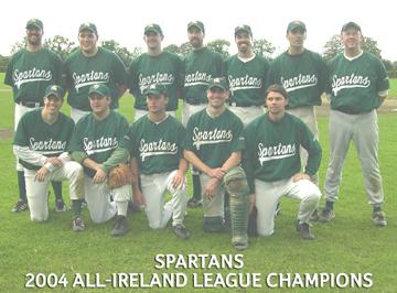 Dublin Spartans Irish Baseball League 2004 Champions