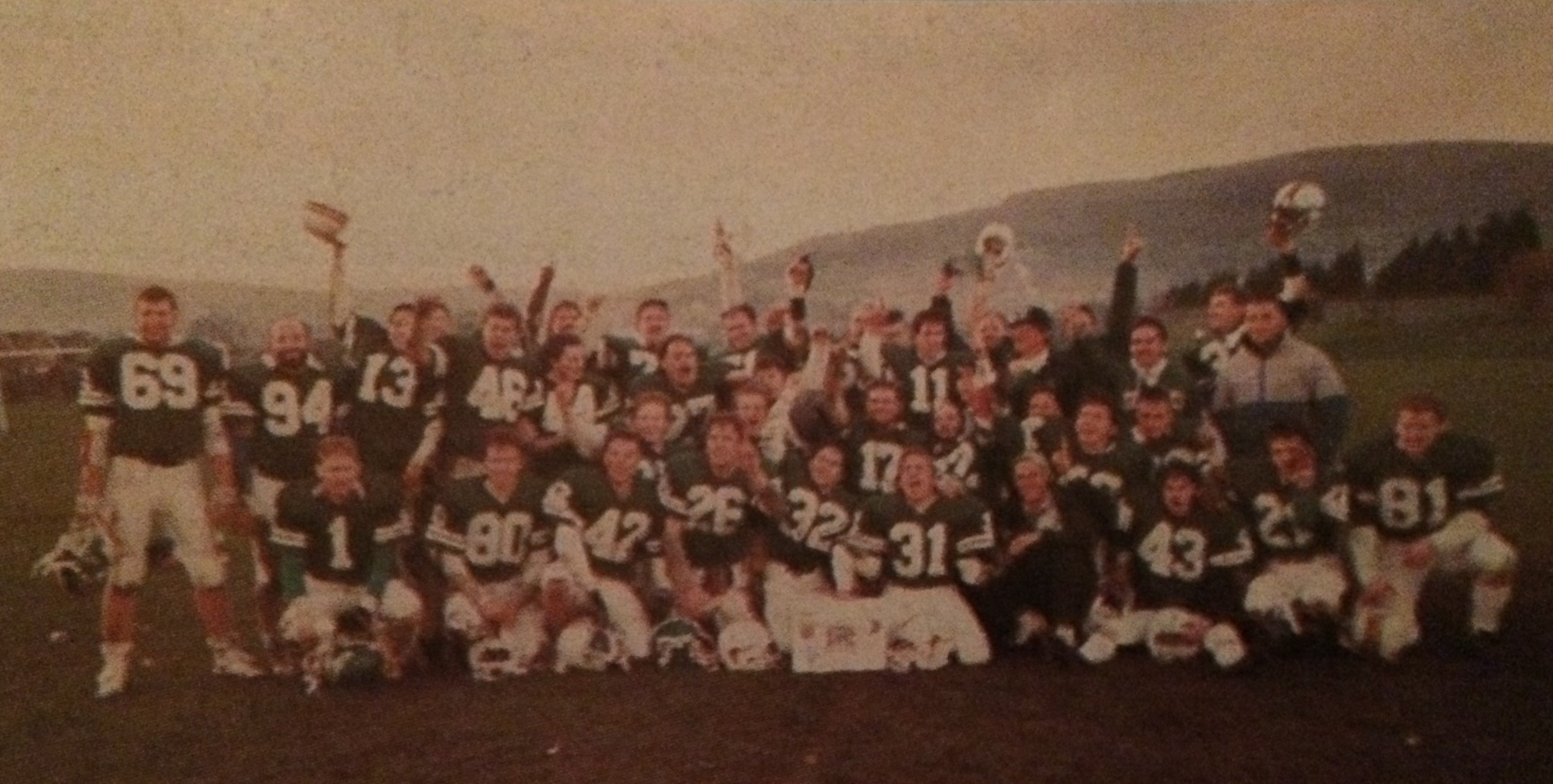 Dublin Celts Shamrock Bowl IV Champins 1989