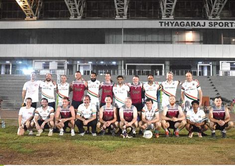 India Wolfhounds and Qatar GAA Teams [Photo Credit: India Wolfhounds GAA]